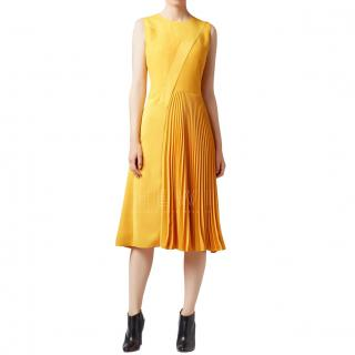 Boss Crepe Pleated Patchwork Dress