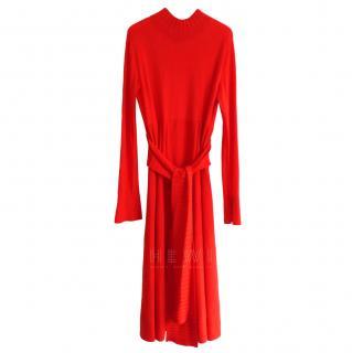 Dorothee Schumacher Red Pleated Dress