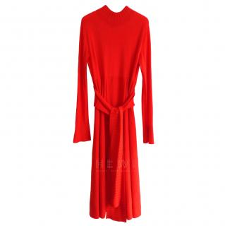 Dorothee Schumacher Red Pleated Dress
