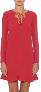 Emilio Pucci Red Stretch-Cady Silk Dress