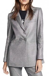 Anine Bing Ace Metallic Blazer