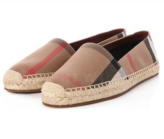 Burberry canvas housecheck hodgeson espadrille flats