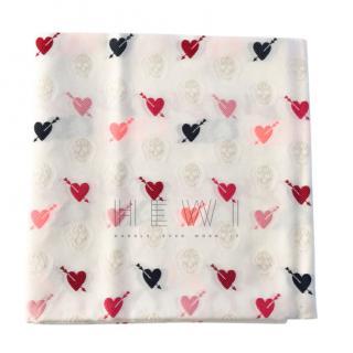 Alexander McQueen oversized heart scarf/shawl