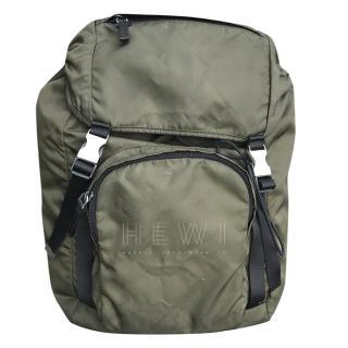 Prada Olive Green Nylon Backpack