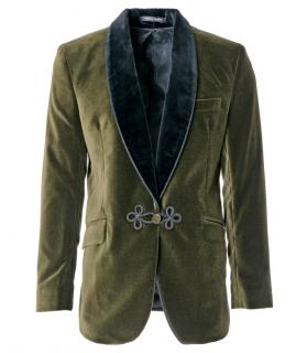 Favourbrook Olive Velvet Grosvenor Jacket