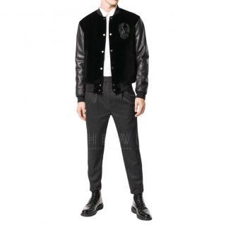 Alexander McQueen sequin embellished skull bomber jacket