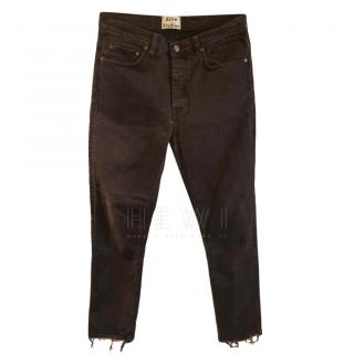 Acne Studios Distressed Men's Town Black Crease Jeans