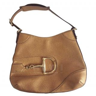 Gucci Metallic Bronze Shoulder Bag