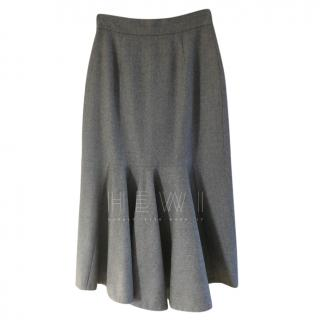 Stella McCartney Grey Fluted Skirt