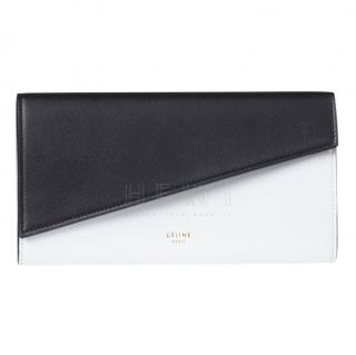 Celine Calfskin Diagonal Colourblock Envelope Flap Wallet