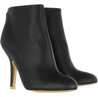 Stella McCartney black faux leather ankle boots