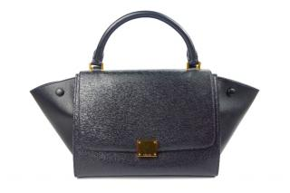 Celine Black Safiano leather Trapeze Bag
