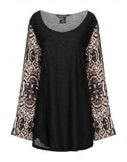 Thomas Wylde Black Tunic W/ Animal Print Sleeves