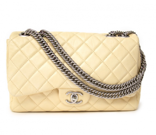 Chanel Cream Classic Flap W/ Bijoux Chain