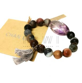 Chan Luu bohemian facet cut mineral bracelet