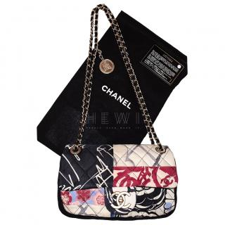Chanel Limited Edition Printed Quilted patchwork shoulder bag