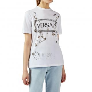 Versace Sustainable Safety Pin Logo T-Shirt