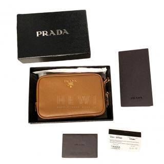 Prada Caramel Saffiano Leather Crossbody Bag