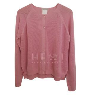 Max Mara Pink Wool Knit Cardigan