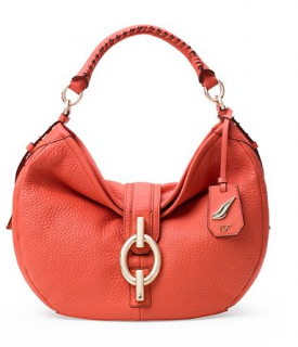 Diane Von Furstemberg Sutra Leather Hobo Bag In Sunburnt