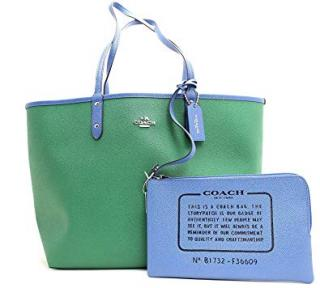 Coach Crossgrain Reversible Blue & Greet Tote