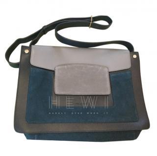 Gerard Darel Suede & Leather Satchel