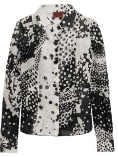 Missoni Black & White Silk Printed Shirt