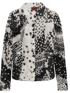 Missoni Black & White Silk Printed Shirt
