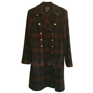 Lauren Ralph Lauren Tartan Military Coat