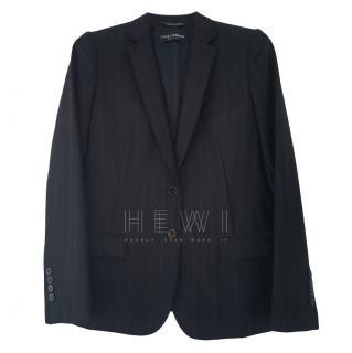 Dolce & Gabbana Striped Fitted Blazer