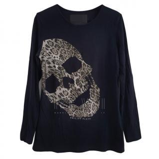 Philipp Plein Crystal Embellished Skull Top