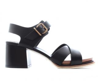 Tod's Black Block Heel Sandals
