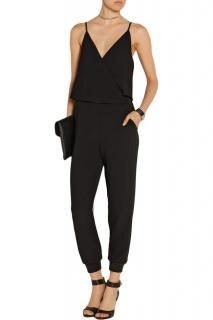 Theory Black Crepe Jumpsuit