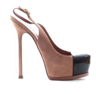 Saint Laurent Cap-Toe Tribtoo Sandals