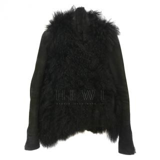 Helmut Lang Shearling Leather Jacket