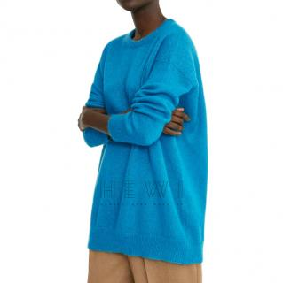 Max Mara Blue Crew Neck Knit Jumper