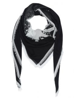Karl Lagerfeld Black & White Sprayface Scarf