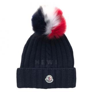 Moncler virgin wool fox fur bobble hat
