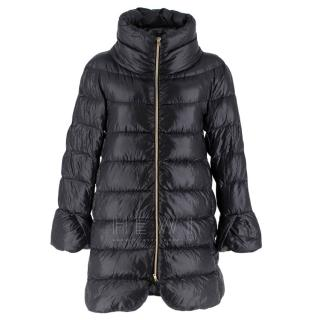 Herno Black Quilted Goose Down Puffer Jacket
