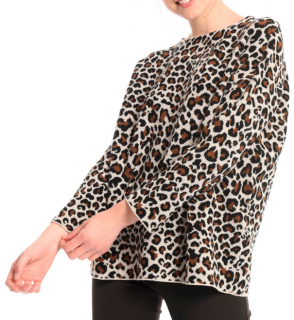 Weekend Max mara Giraffe Print Knit Jumper