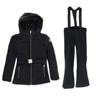 Fusalp Kid's Unisex Black Ski Suit