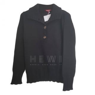 Max Mara Black Wool Knit Jumper