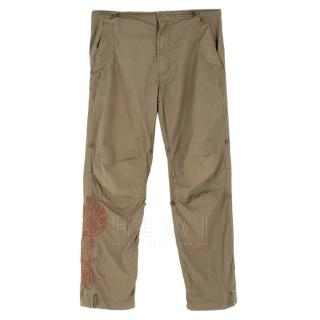 Maharishi Khaki Embroidered Cargo Trousers