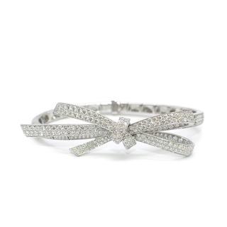 Chanel White Gold Diamond Bow Bracelet