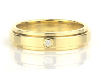 Piaget Yellow Gold Single Diamond Ring