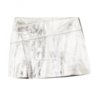 Ba&Sh New Mania Silver Metallic Skirt