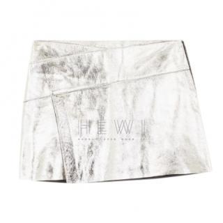Ba&Sh New Mania Silver Metallic Skirt