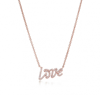 Tiffany & Co. Diamond Love Pendant Necklace