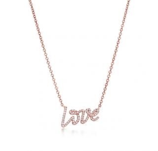Tiffany & Co. Diamond Love Pendant Necklace