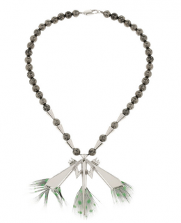 Eddie Borgo Silver-plated dragonfly necklace